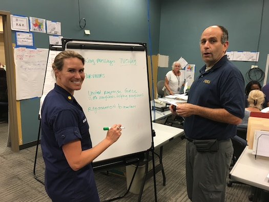 Coast Guard Lt. Commander Karen Kutkiewicz and Federal