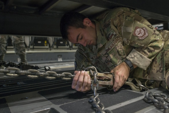 he C-17 crew members delivered the equipment to Cyril E. King Airport in St. Thomas, U.S. Virgin Islands.