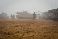 U.S. Army Soldiers from the 2nd Battalion, 7th Cavalry Regiment, 3rd Armored Combat Team, 1st Cavalry Division prepare several M1A2 Abrams tanks for a field training exercise during Bright Star 2017, Sept. 12, 2017, at Mohamed Naguib Military Base, Egypt. Started in 1981, Bright Star builds on the strategic security relationship between the U.S. and Egypt, a partnership that supports counterterrorism, regional security, and efforts to combat the spread of violent extremism. (U.S. Air Force photo by Staff Sgt. Michael Battles)