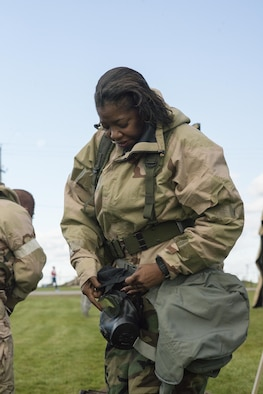 The assessment is meant to guage the unit's ability to operate in different protective postures (MOPP) as well as perform self aid and buddy care.
