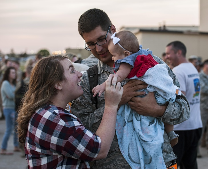 Team Minot welcomed the 5th Bomb Wing Airmen from a six-month deployment.