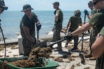 U.S. mMarines with Battalion Landing Team 2nd Battalion, 6th Marine Regiment, 26th Marine Expeditionary Unit (MEU), conducted cleanup operations in the streets of Key West, Fla., Sept. 12, 2017. Marines and Sailors with the 26th MEU assisted the residents of Key West by clearing debris from the streets in support of Federal Emergency Management Agency in the aftermath of Hurricane Irma.