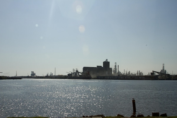 The Port of Beaumont Texas sits largely empty after Hurricane Harvey caused shoaling in the port's turning basin. The Galveston District, U.S. Army Corps of Engineers is working with the port to restore the channels to full authorized depths.