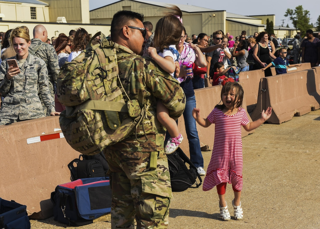 Team Minot welcomes deployed Airmen home