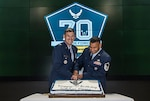 Air Force birthday cake cutting ceremony
