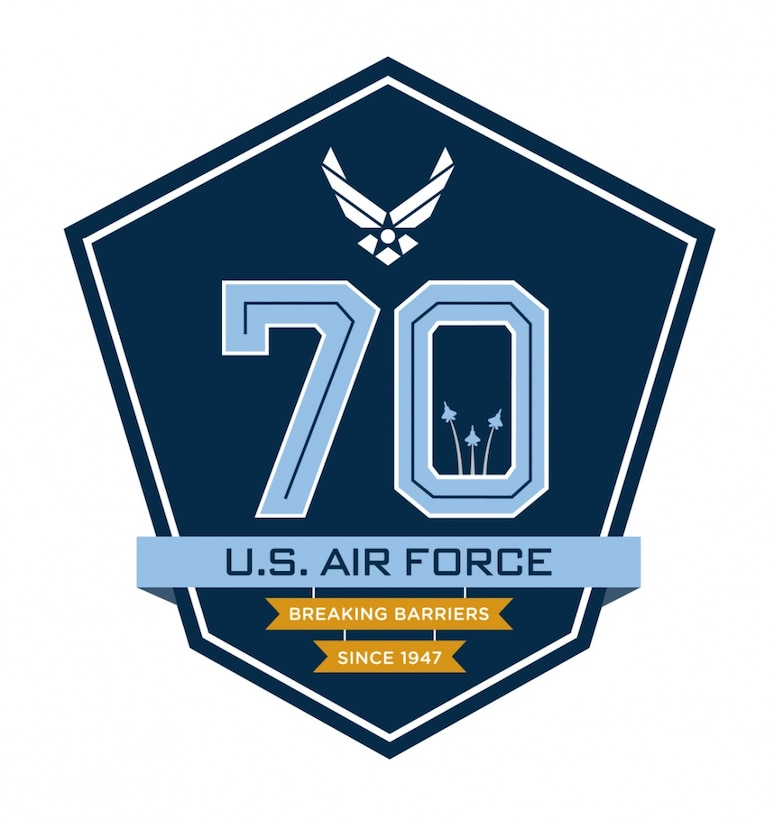Air Force 70th Birthday Logo.