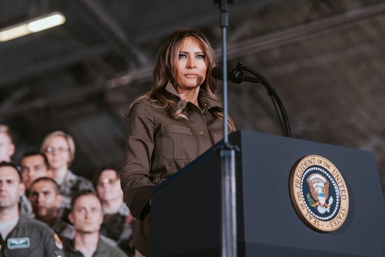 First lady speaks.