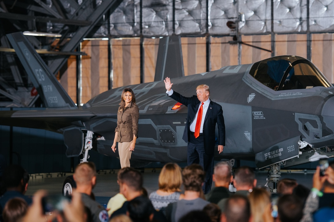 President Trump and first lady.