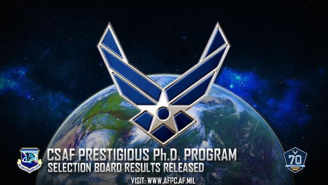 CSAF Prestigious Ph.D. Program selection board results released