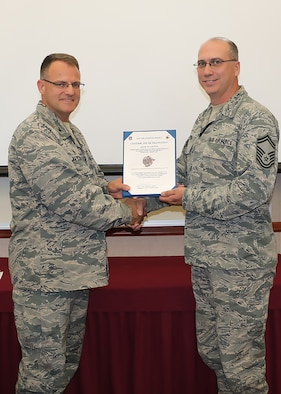 Layton Promoted to Chief Master Sergeant