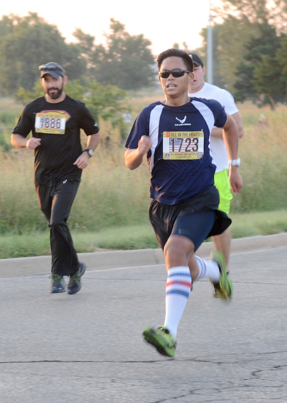 """It was a record-setting 9/11 Memorial Run & Ruck for Team Tinker. 1,730 people  registered to participate, over 100 volunteered, plus collaboration from every squadron and organization at Tinker, as well as Midwest City and Del City fire and police units, made the annual event a huge success. The run to remember is hosted by the Tinker Chaplains and this year's theme was """"Still in the Fight."""""""