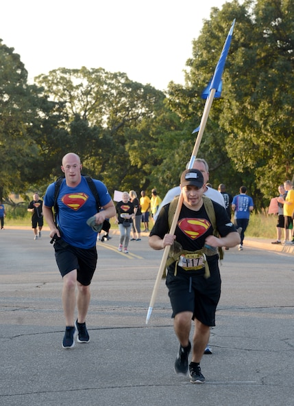 "It was a record-setting 9/11 Memorial Run & Ruck for Team Tinker. 1,730 people  registered to participate, over 100 volunteered, plus collaboration from every squadron and organization at Tinker, as well as Midwest City and Del City fire and police units, made the annual event a huge success. The run to remember is hosted by the Tinker Chaplains and this year's theme was ""Still in the Fight."""