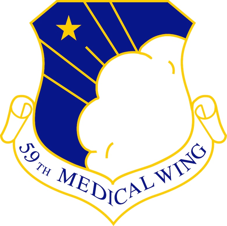 """The 59th Medical Wing, located at Joint Base San Antonio-Lackland, is the Air Force's premier healthcare, medical education and research, and readiness wing. The wing's vision is """"Exemplary Care, Global Response."""" Its mission is """"Developing Warrior Medics Through Patient-Centered Care."""" (U.S. graphic by Robert Shelly)"""