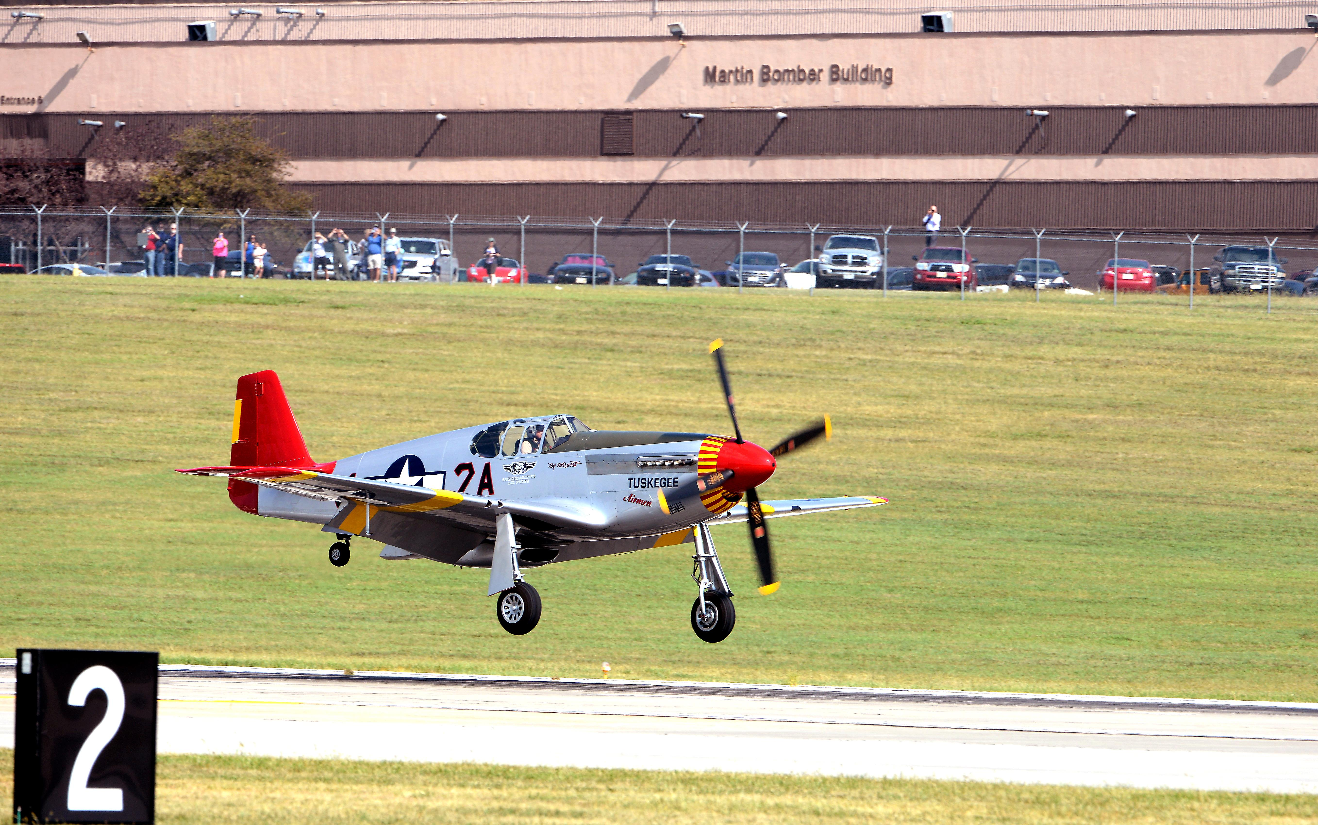 P 51 Mustang From Red Tail Squadron Original Tuskegee