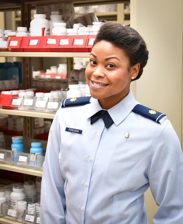 Maj. Amanda Ferguson, 628th Medical Support Squadron is the Pharmacy Flight commander here.