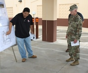 USACE Command Sergeant Major Bradley Houston visited our Quad B project site at Schofield Barracks Sept. 13.