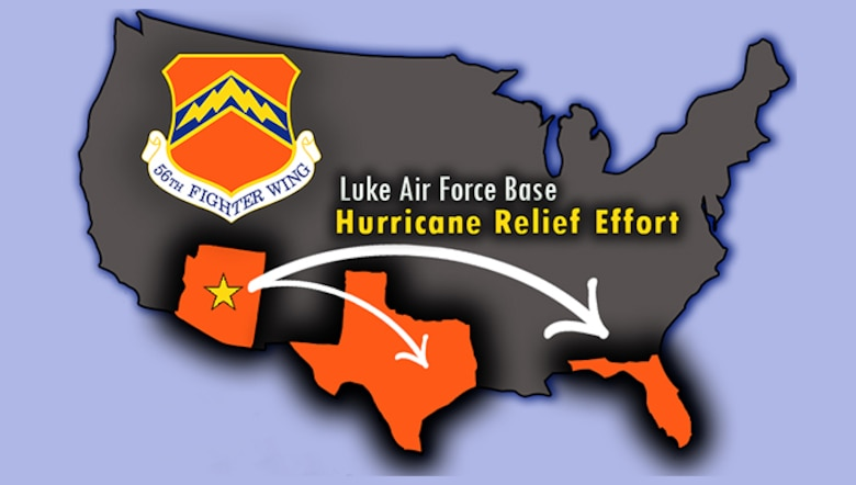 A donation drive is taking place at Luke Air Force Base, Ariz. until October 1st in conjunction with Saint Mary's Food Bank Alliance to assist families in need who have been afflicted by the ongoing hurricane season.