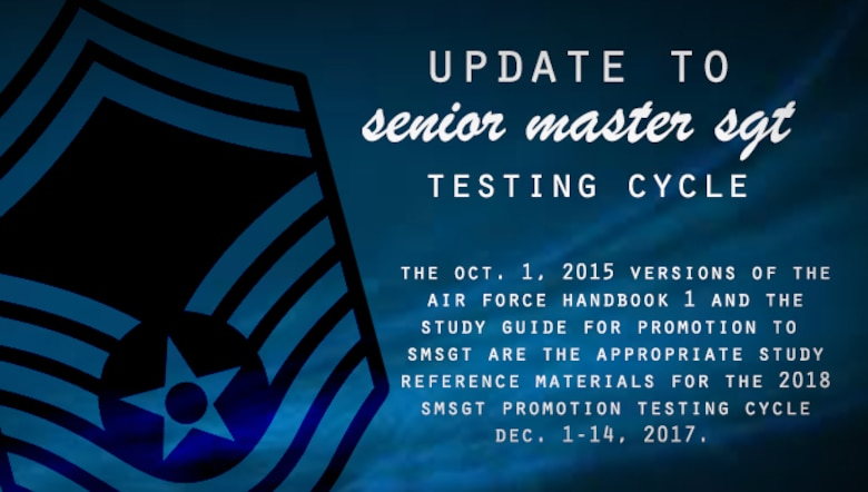 Master sergeants to use 2015 promotion study guide for testing
