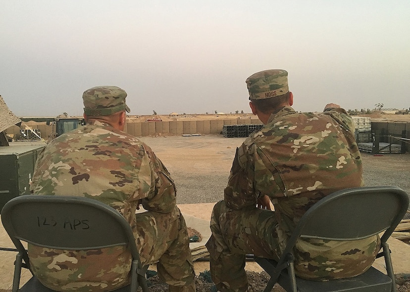 The twin brothers are both deployed to Iraq in support of Combined Joint Task Force -Operation Inherent Resolve. CJTF-OIR is the global Coalition to defeat ISIS in Iraq and Syria.
