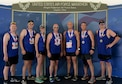 Several service members and family from Columbus Air Force Base, Mississippi pose minutes after the Air Force Marathon Sept. 16, 2017, at Wright-Patterson AFB, Ohio. The Air Force Marathon was worked by about 2,400 volunteers and had about 15,000 participants.