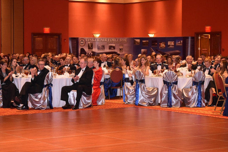 Team Tinker, their families and distinguished guests came out to the Embassy Suites in Norman, Oklahoma, on Sept. 16 to celebrate the 70th birthday of the Air Force and the 75th anniversary of Tinker Air Force Base during the Air Force Ball. Nearly 700 people attended the event.
