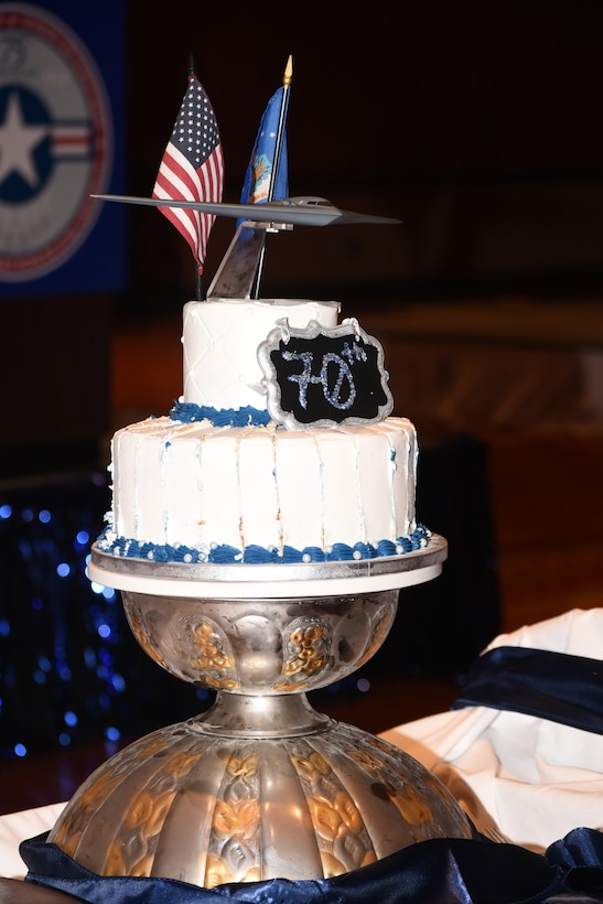 No party is complete without a cake. This was the official cake of the 2017 Air Force Ball, celebrating the 70th birthday of the United States Air Force.