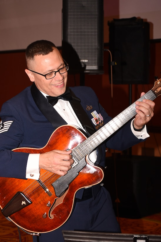 Members of the U.S. Air Force's Band of the West provided entertainment for the 2017 Air Force Ball, held Sept. 16 at the Embassy Suites Hotel in Norman, Oklahoma.
