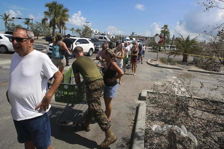 Marines and Sailors from the 26th MEU assisted the residents of Key West by clearing debris from the streets in support of the Federal Emergency Management Agency in the aftermath of Hurricane Irma.