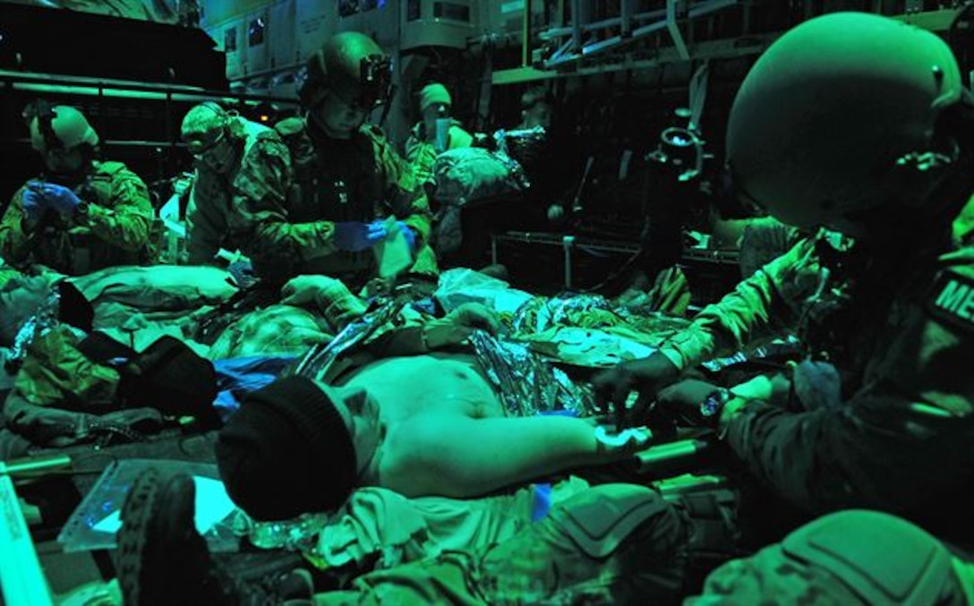 As an Independent Duty Medical Technician, or IDMT, within the special operations forces community, Senior Master Sgt. Scott Piper, 60th Air Mobility Wing career assistance advisor, he provided primary care and emergency medical support to deployed SOF units, enabling casualty evacuation aboard SOF aircraft for the movement of patients from far forward areas in or near a combat zone. (U.S. Air Force photo)