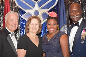 From left, Garry Richey, former Oklahoma City Air Logistics Center executive director, Donna Richey, Lori Bell and Col. Kenyon Bell, 72nd Air Base Wing commander.