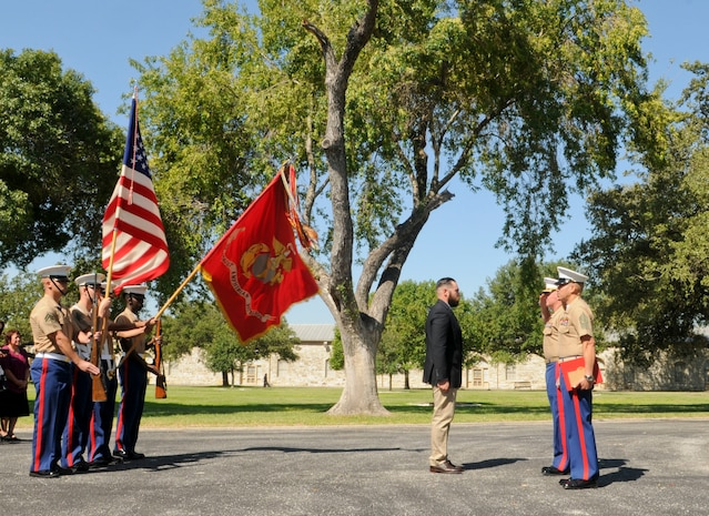 On 8 September 2017, 3d AABn Commanding Officer, Sergeant Major, and color guard travelled to Joint Base San Antonio Fort Sam Houston to award Marine Corps veteran Corporal Randy D. Mann the Navy and Marine Medal for actions while serving at 3d Assault Amphibian Battalion in July of 2013. Mr.Mann put his own life at risk to save two fellow Marines during training in Camp Pendleton, California.