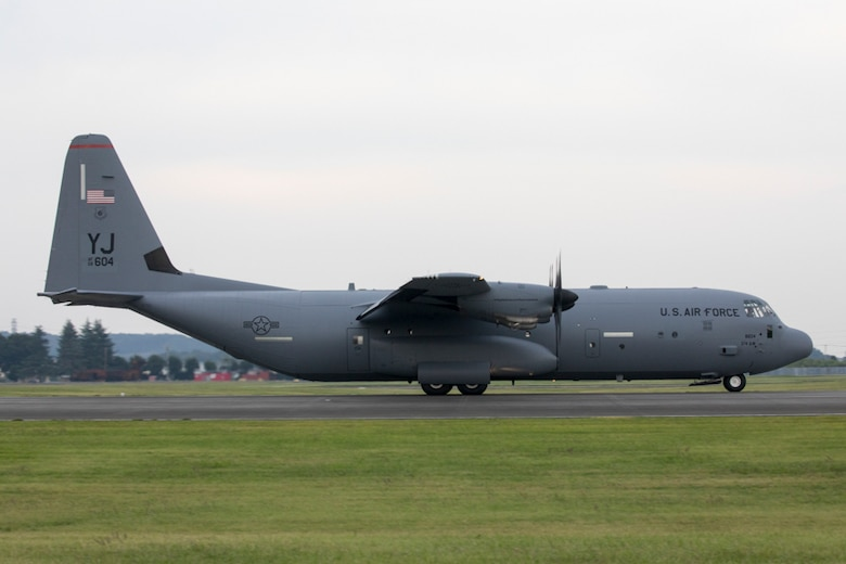 A C-130J Super Hercules assigned to the 36th Airlift Squadron lands at Yokota
