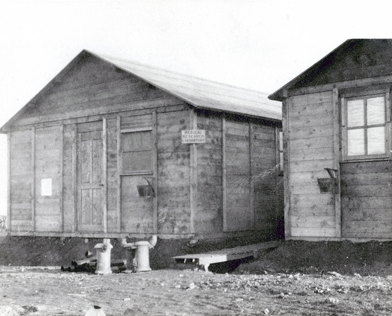 Buildings of the Aero Medical Laboratory at Hazelhurst Field, in Mineola, New York in 1918.