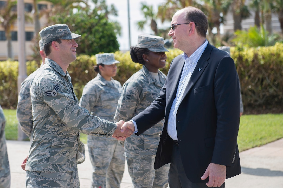 Under Secretary of the Air Force, Matthew Donovan visits Patrick Air Force Base
