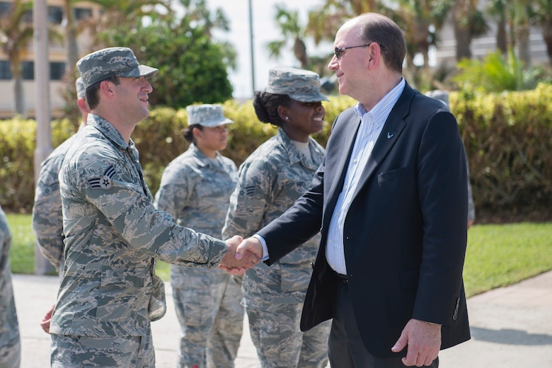 Under Secretary of the Air Force, Matthew Donovan visits Patrick Air Force Base