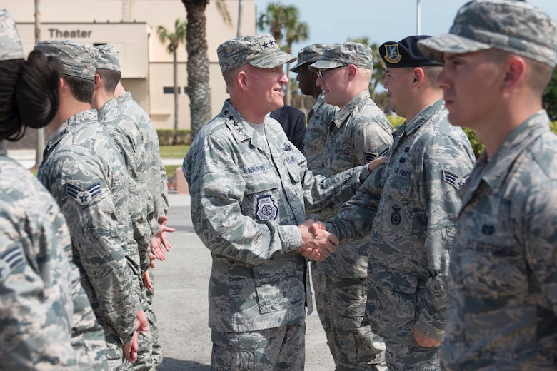 Air Force Vice Chief of Staff, Gen. Stephen W. Wilson, visits Patrick Air Force Base.