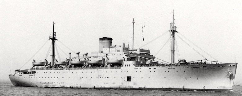 HOPD-Historical photo of U.S. Army Transport Henry Gibbins, underway, date and location unknown. (108th Wing photo available from Wikipedia courtesy of navsource.org)