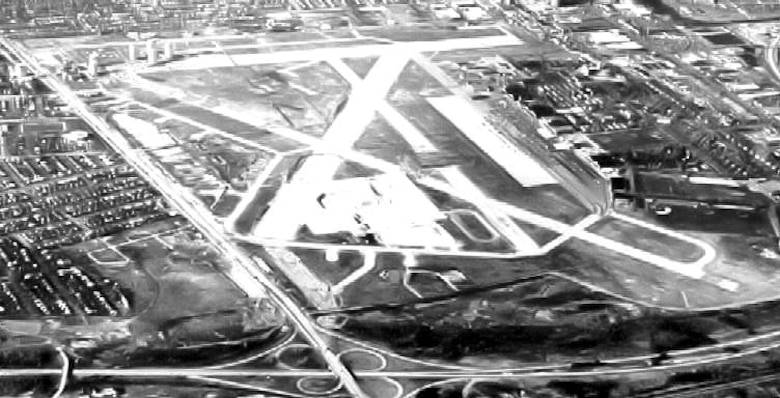 HOPD- Mitchel Field - New York - 1968. In late September 1942, the 348th Fighter Group, consisting of the 340th, 341st and 342nd Fighter Squadrons was activated at Mitchel Field, Long Island, NY; located on the Hempstead Plains, today it is the home of the Cradle of Aviation Museum. (108th Wing provides access to this public domain photo available at Wikipedia from the United States Department of Agriculture)