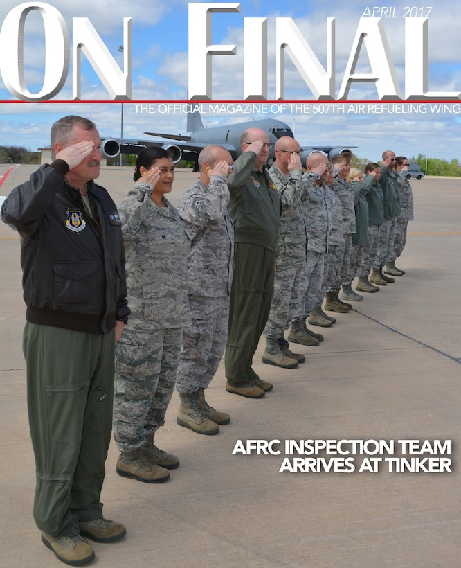 The April 2017 edition of the 507th Air Refueling Wing's official magazine. (U.S. Air Force image/Tech. Sgt. Lauren Gleason)