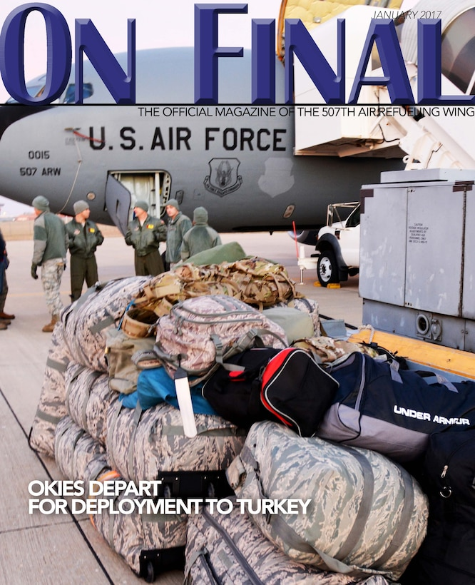The January 2017 edition of the 507th Air Refueling Wing's official magazine. (U.S. Air Force image/Tech Sgt. Lauren Gleason)