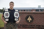 Marine Corps Sgt. Ethan Mawhinney, an Air-Ground Task Force planner with Marine Corps Forces Special Operations Command, successfully defended his championship title at the Marine Corps third annual HITT Tactical Athlete Competition held at Camp Pendleton, Calif., Aug. 28-31, 2017. The competition brings together the top male and female Marines from each Marine Corps installation in a demanding competition of military function and fitness and to promote the advanced dynamics found in the High Intensity Tactical Training program. Marine Corps photo by Cpl. Bryann K. Whitley