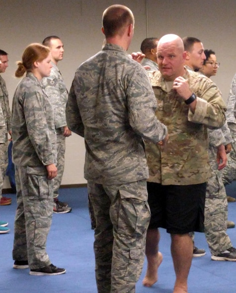 Combatives instruction at Tech Warrior