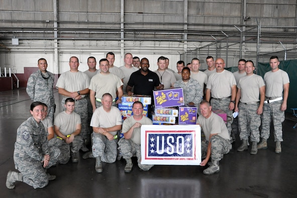 910th Aerial Spray team celebrates Air Force B-Day with help from USO San Antonio