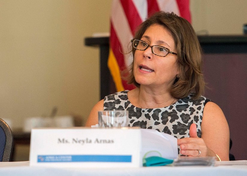 Neyla Arnas, senior research fellow at National Defense University's Center for Applied Strategic Learning, discusses the benefits of fully including women in peace negotiations and post-conflict peacekeeping efforts.