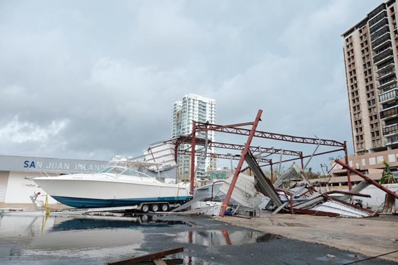 Damage to Puerto Rico from Hurricane Maria
