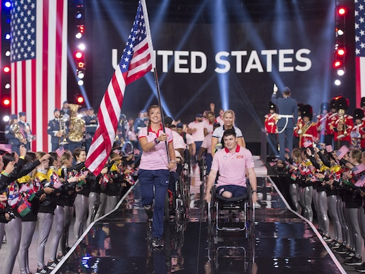 U.S. team enters Invictus Games opening ceremony