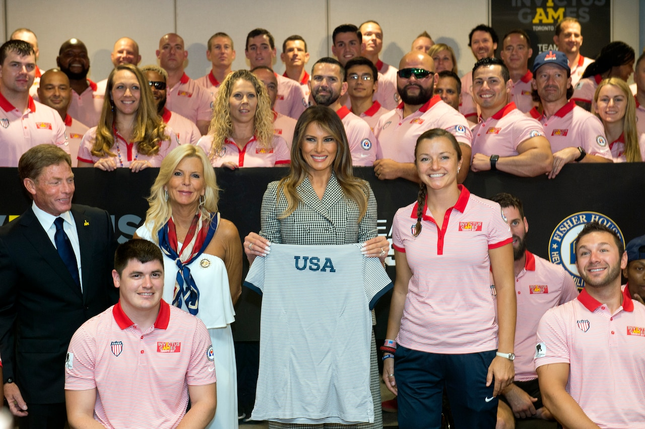 First Lady Melania Trump meets with U.S. Invictus Games athletes