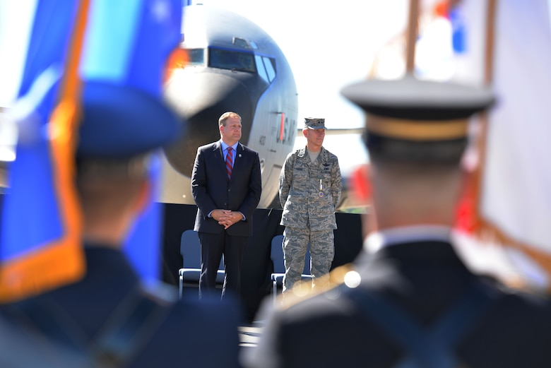 Gov. Christopher T. Sununu attends the retirement ceremony of Maj. Gen. William N. Reddel. Reddel is retiring after serving in the Air National guard for over 37 years. (N.H. National Guard photo by Senior Airman Ashlyn J. Correia)