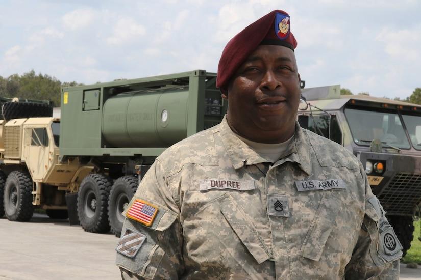 A man in military attire.