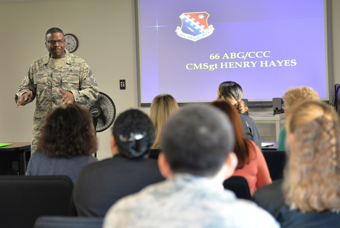 Hanscom newcomers attend commander's welcome